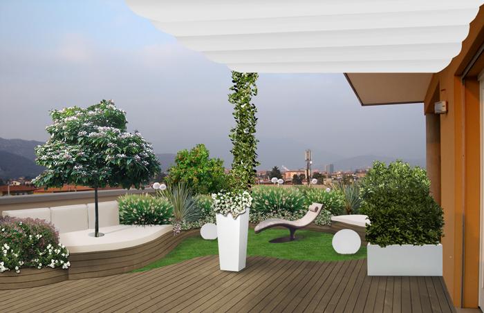 Progettare terrazzi global green for Progettare un terrazzo giardino