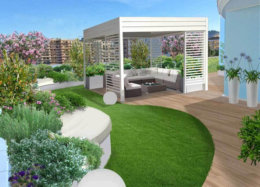Progettare terrazzi global green for Esempi giardino