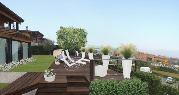 Terrazzo in collina for Progettare un terrazzo giardino